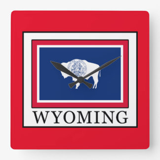 Wyoming Square Wall Clock