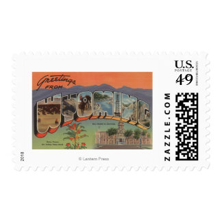 Wyoming (State Capital/Flower) Postage Stamps