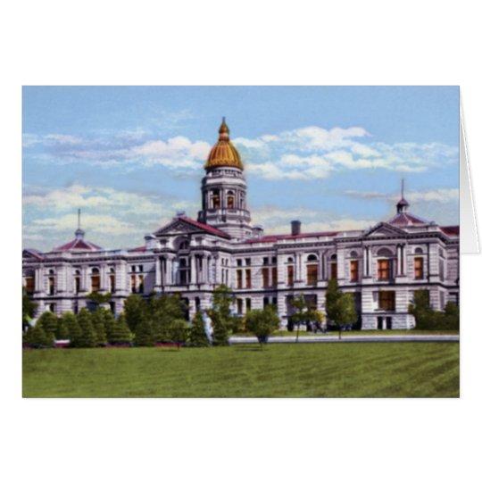 Wyoming State Capitol at Cheyenne Wyoming Card