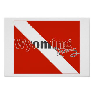 Wyoming State Diving Flag Poster