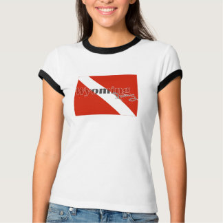 Wyoming State Diving Flag T-Shirt