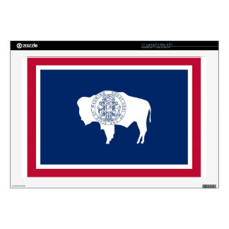 "Wyoming State Flag 17"" Laptop Decals"