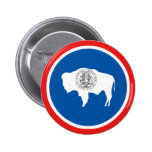 Wyoming State Flag 2 Inch Round Button
