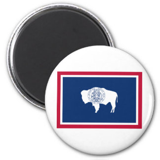 Wyoming State Flag 2 Inch Round Magnet
