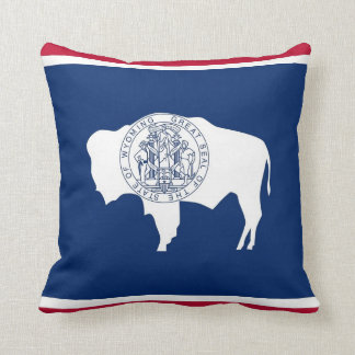 Wyoming State Flag American MoJo Pillow