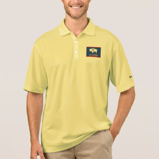 Wyoming State Flag and Map Polo Shirt
