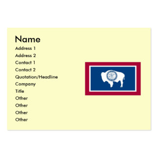 Wyoming State Flag Large Business Cards (Pack Of 100)