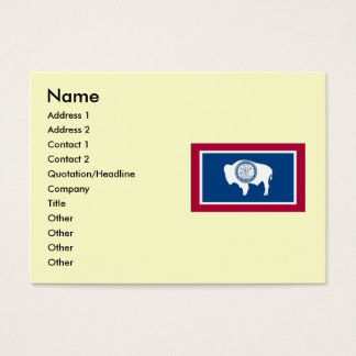 Wyoming State Flag Business Card