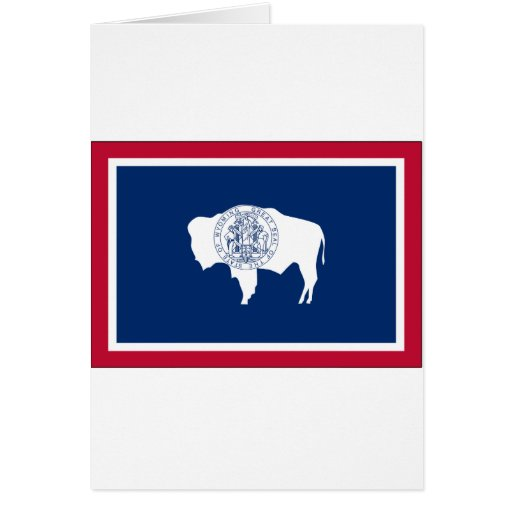 Wyoming State Flag Card