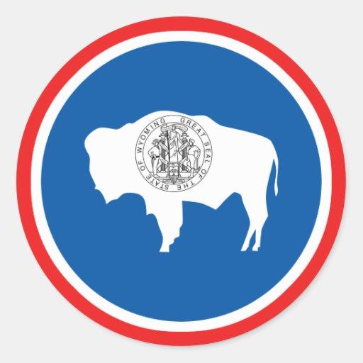 Wyoming State Flag Classic Round Sticker