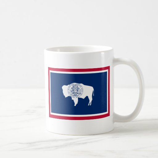 Wyoming State Flag Classic White Coffee Mug