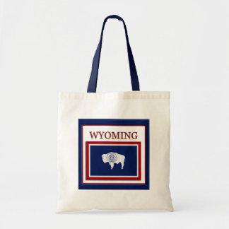 Wyoming State Flag Design Budget Canvas Bag