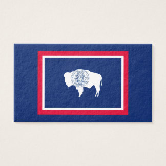 Wyoming State Flag Design Business Card