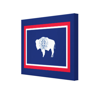 Wyoming State Flag Design Canvas Print