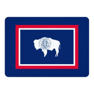 Wyoming State Flag Design Decor Card