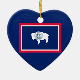 Wyoming State Flag Design Decor Ceramic Ornament