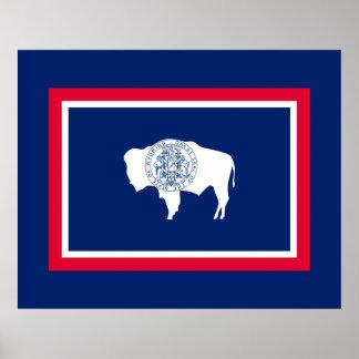 Wyoming State Flag Design Poster