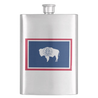 Wyoming State Flag Hip Flask