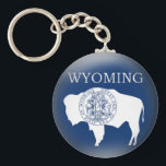 "Wyoming State Flag Keychain<br><div class=""desc"">A graphic Wyoming State Flag designed to appear 3D on a keychain.</div>"