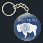 """Wyoming State Flag Keychain<br><div class=""""desc"""">A graphic Wyoming State Flag designed to appear 3D on a keychain.</div>"""