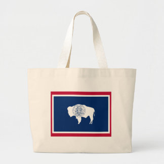 Wyoming State Flag Large Tote Bag