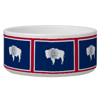 Wyoming State Flag Pet Bowl