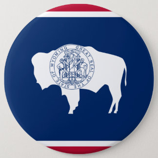 Wyoming State Flag Pinback Button