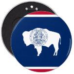 Wyoming State Flag Pinback Button