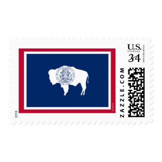 Wyoming State Flag Stamps
