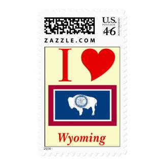 Wyoming State Flag Postage Stamp