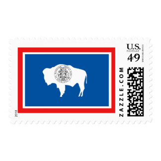 Wyoming State Flag Postage Stamps