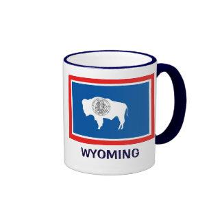 Wyoming State Flag Ringer Coffee Mug