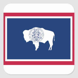 Wyoming State Flag Square Sticker