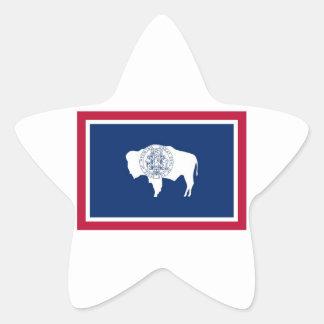 Wyoming State Flag Star Sticker