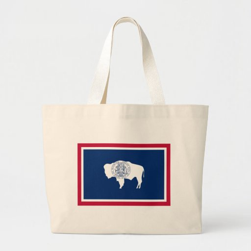 Wyoming State Flag Tote Bags