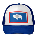 Wyoming State Flag Trucker Hats