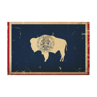 Wyoming State Flag VINTAGE Canvas Print