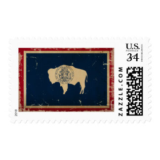 Wyoming State Flag VINTAGE Stamps