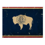 Wyoming State Flag Vintage Postcard at Zazzle