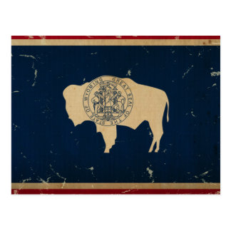 Wyoming State Flag VINTAGE Postcard