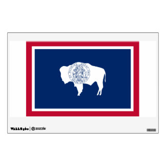 Wyoming State Flag Wall Sticker