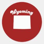 WYOMING STATE MOTTO T-SHIRT T-shirt Classic Round Sticker