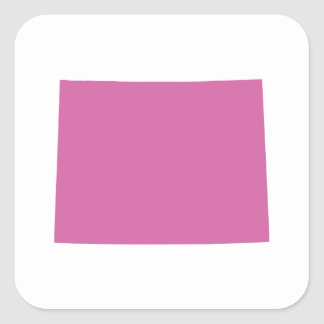 Wyoming State Outline Square Sticker