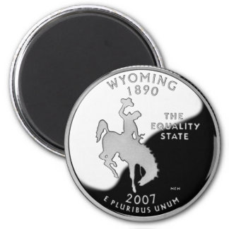 Wyoming State Quarter 2 Inch Round Magnet