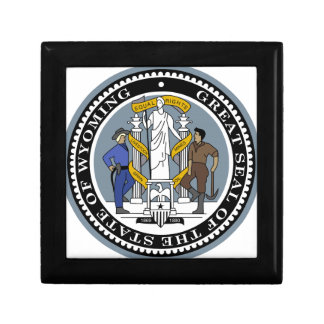 Wyoming State Seal Jewelry Boxes