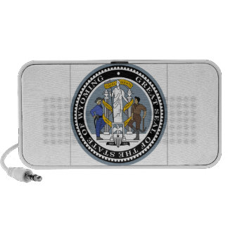 Wyoming State Seal Travelling Speakers