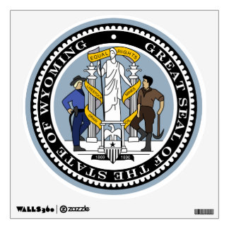 Wyoming State Seal Wall Sticker