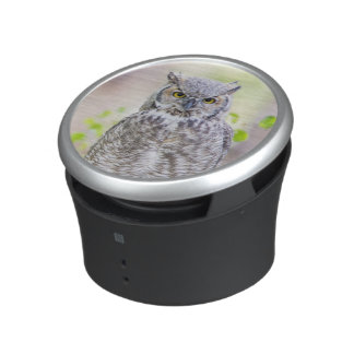 Wyoming, Sublette County, Great Horned Owl 2 Bluetooth Speaker