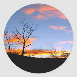 Wyoming Sunset Classic Round Sticker