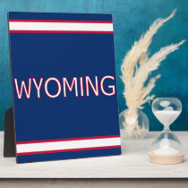 Wyoming Tabletop Plaque with Easel